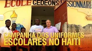 Campanha dos uniformes e materiais escolares