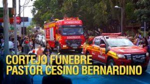 Cobertura do cortejo fúnebre do Pastor Cesino Bernardino