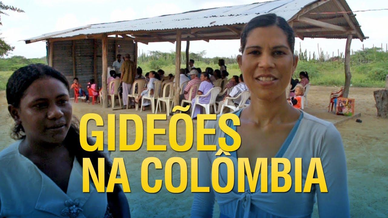 Gideões evangelizando na Colômbia