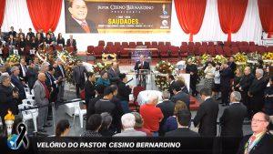 Cerimônia fúnebre do pastor Cesino Bernardino