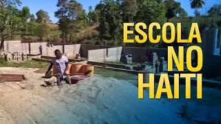 Gideões em construção da nova escola no HAITI