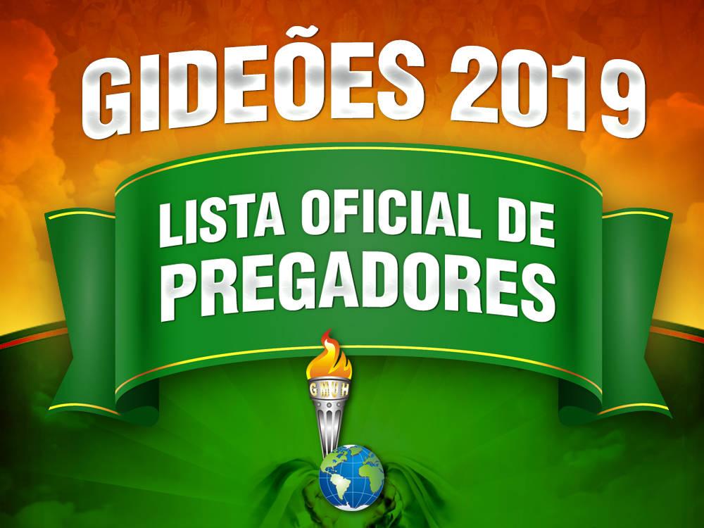 Lista de preletores do Congresso dos Gideões 2019