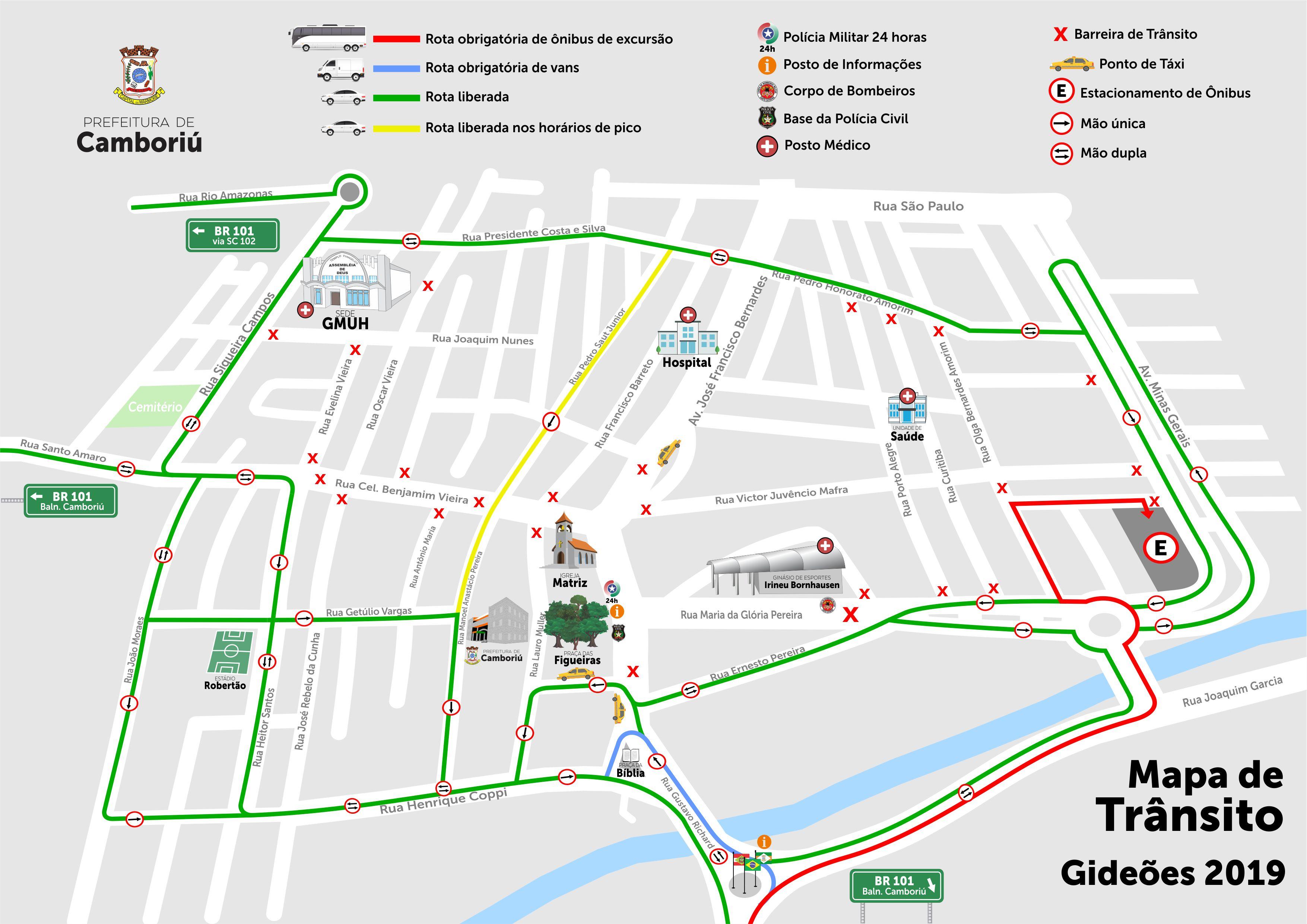 Trânsito de Camboriú será alterado para o Congresso de Gideões 2019