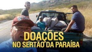Gideões levando doações para o sertão da Paraíba