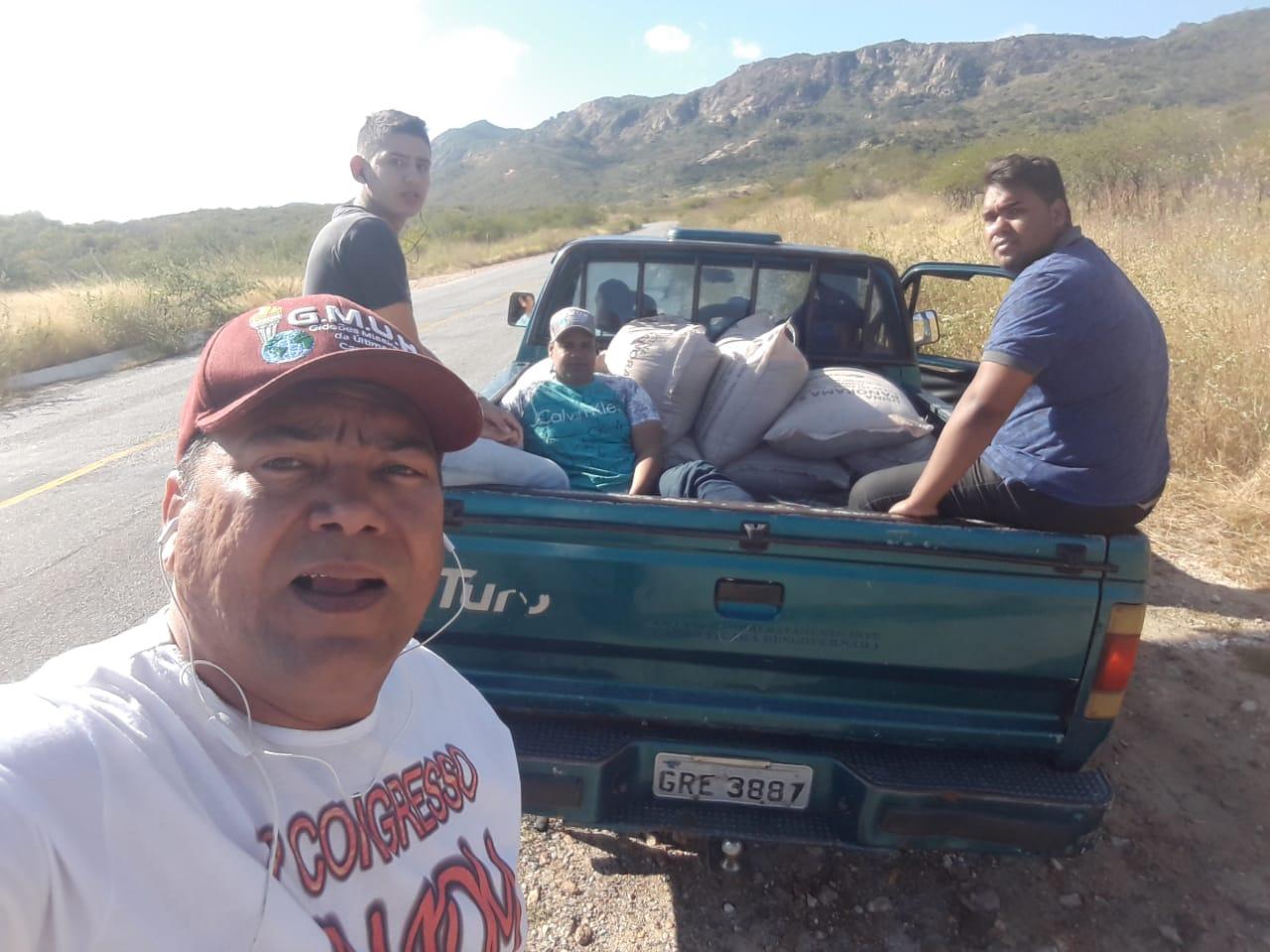 Doação de 1 tonelada de feijão a comunidade carente na Paraíba
