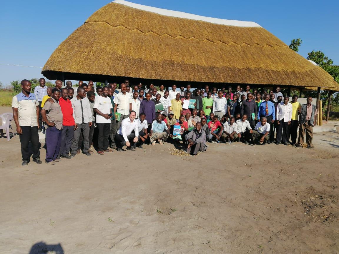 Pré-inauguração da escola bíblica em Moçambique