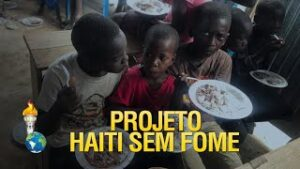 Gideões realizando o Projeto Haiti Sem Fome