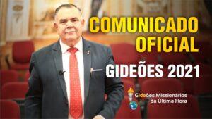 Comunicado Gideões 2021