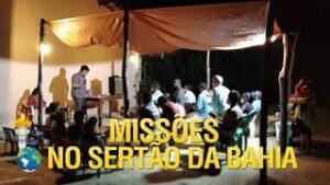 Gideões fazendo missões no sertão da Bahia