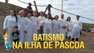 Gideões realiza mais um Batismo na Ilha de Pascoa